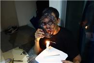 Nick Wong (Production Designer) undergoing plastic surgery